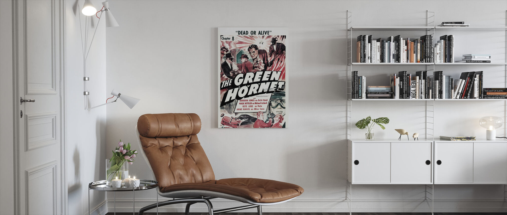 Movie Poster The Green Hornet - Canvas print - Living Room