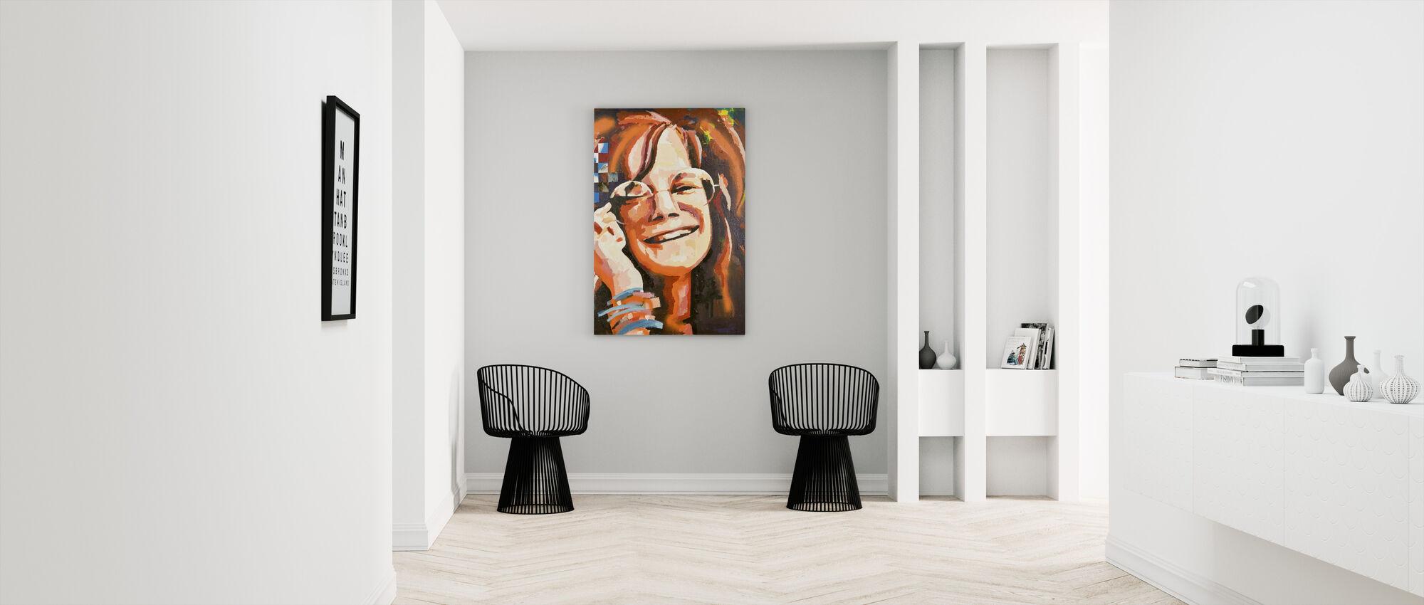 Frau Woodstock - Leinwandbild - Flur
