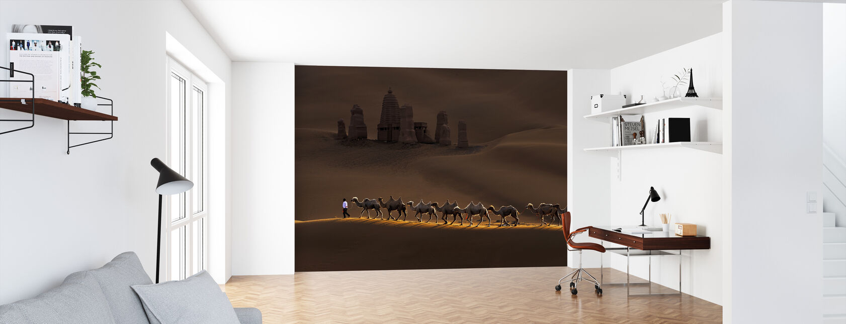 Castle and Camels - Wallpaper - Office