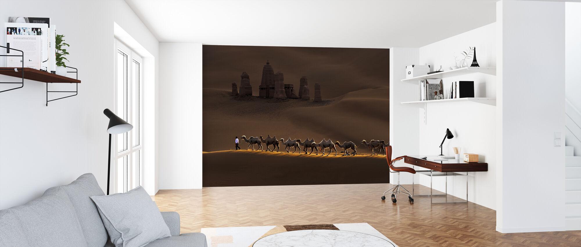 Kasteel en Kamelen - Behang - Kantoor