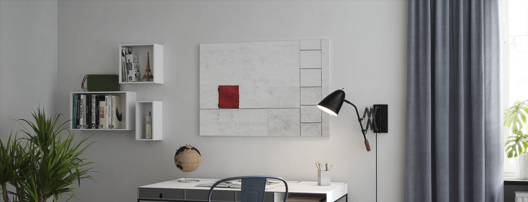 Suprematism is all Around - Canvas print - Office