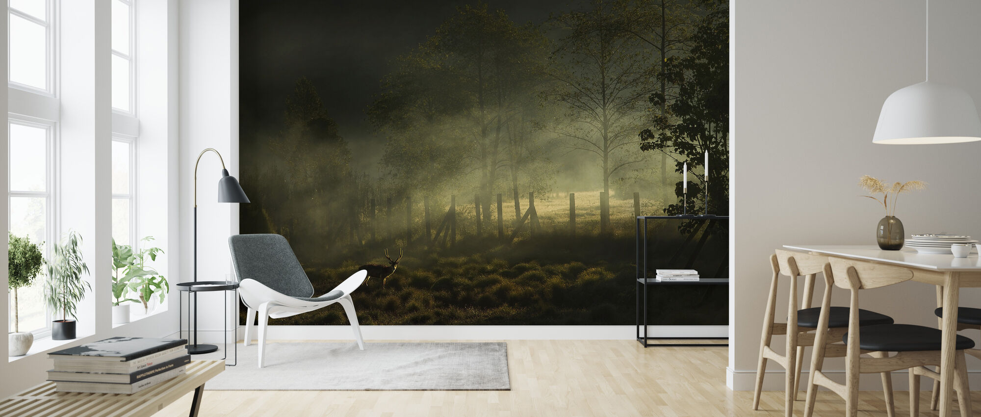 Misty Morning - Wallpaper - Living Room