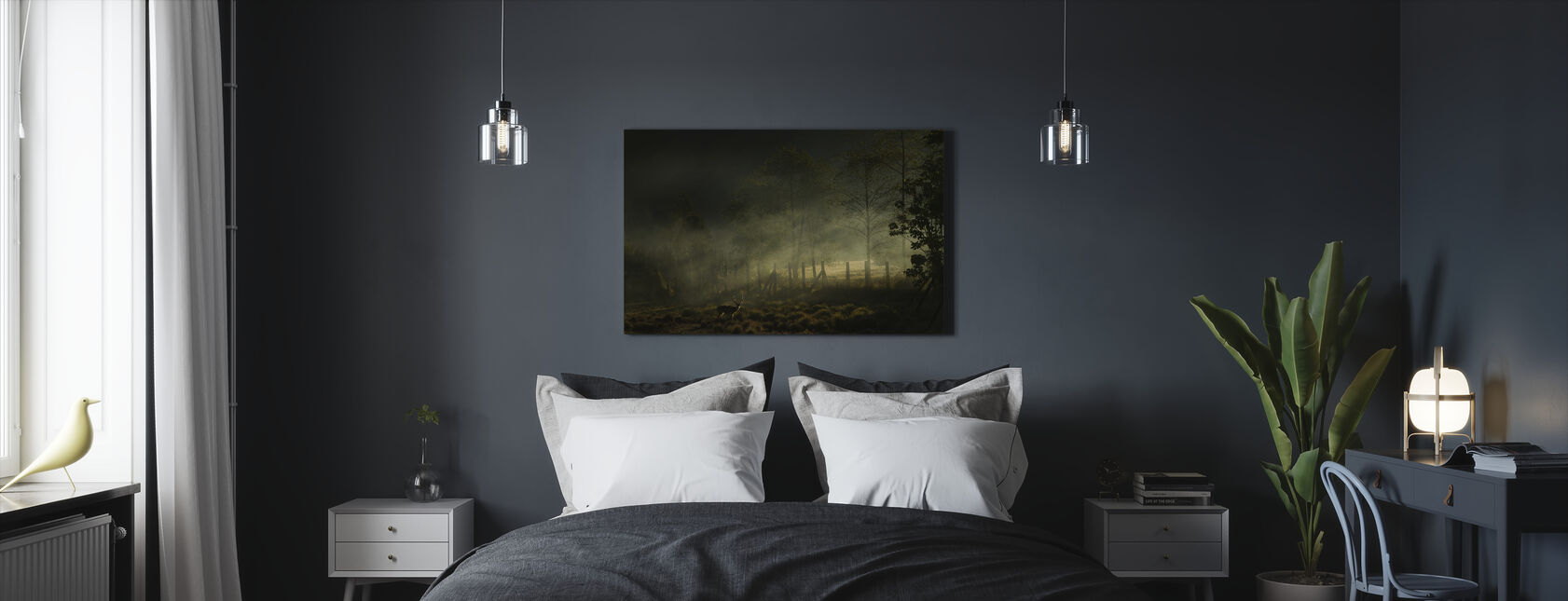 Misty ochtend - Canvas print - Slaapkamer