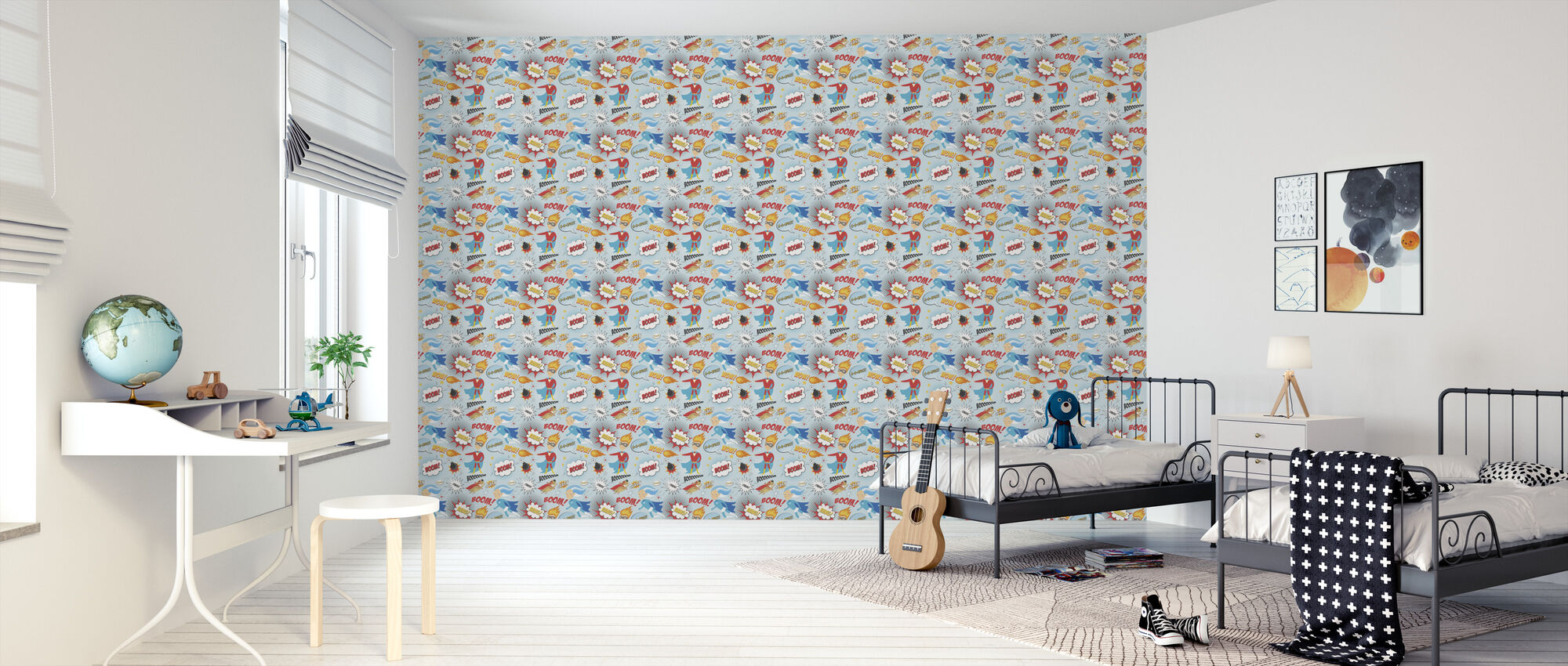 Superheroes - Wallpaper - Kids Room