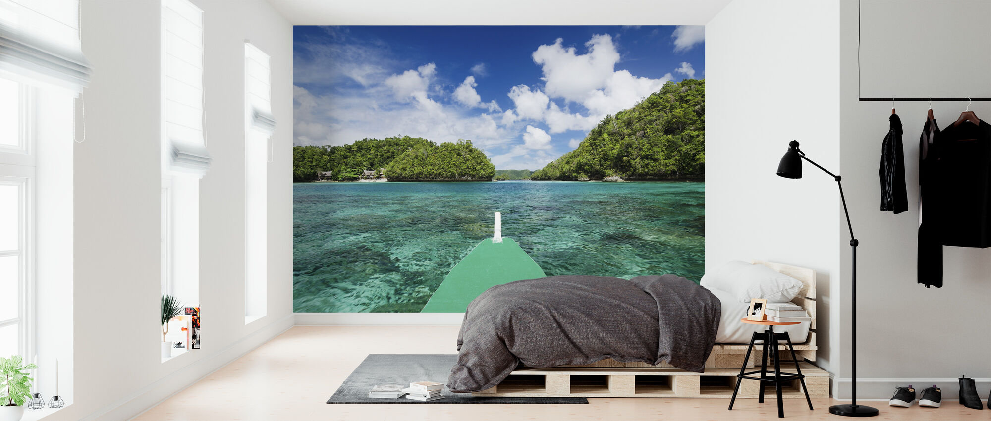 Bangka View of Bucas Grande, Indonesia, South East Asia - Wallpaper - Bedroom