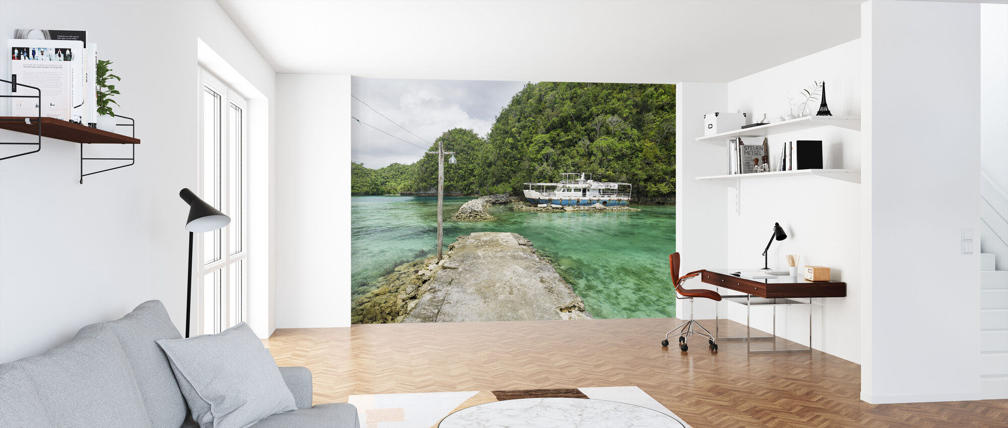 Crystal Clear Waters of Bucas Grande - Wallpaper - Office
