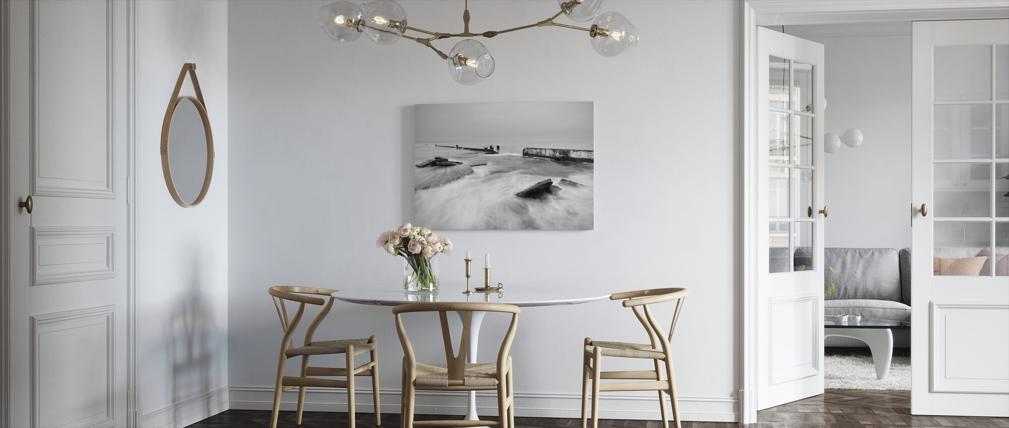 Overflowing Sea Water in Mono - Canvas print - Kitchen