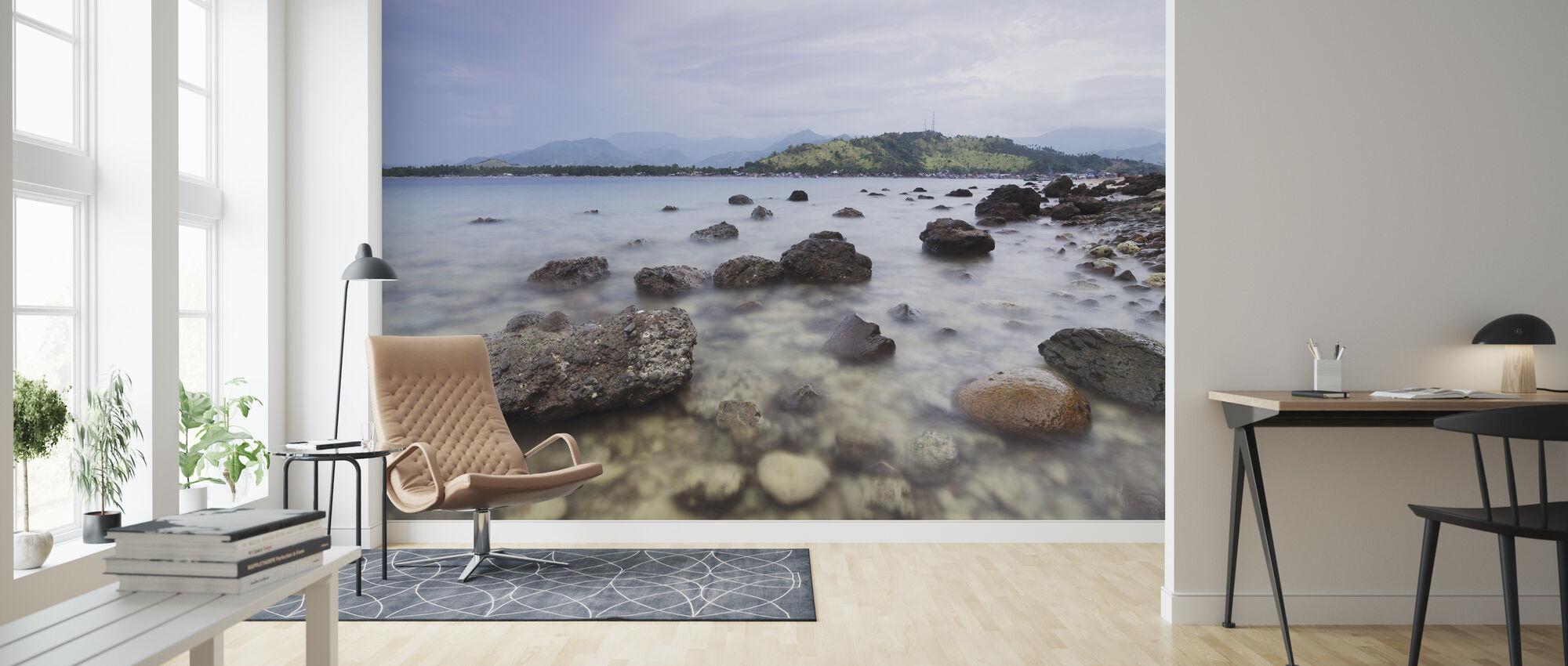 Rocks in Tibanban Island - Wallpaper - Living Room