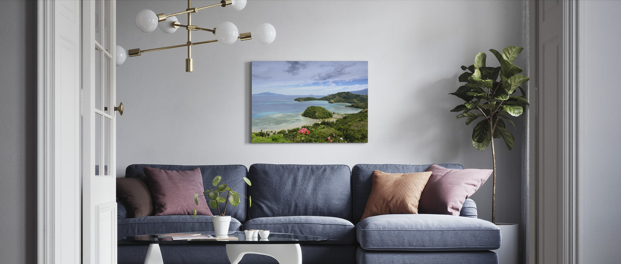 Sleeping Dinosaur in Mati - Canvas print - Living Room