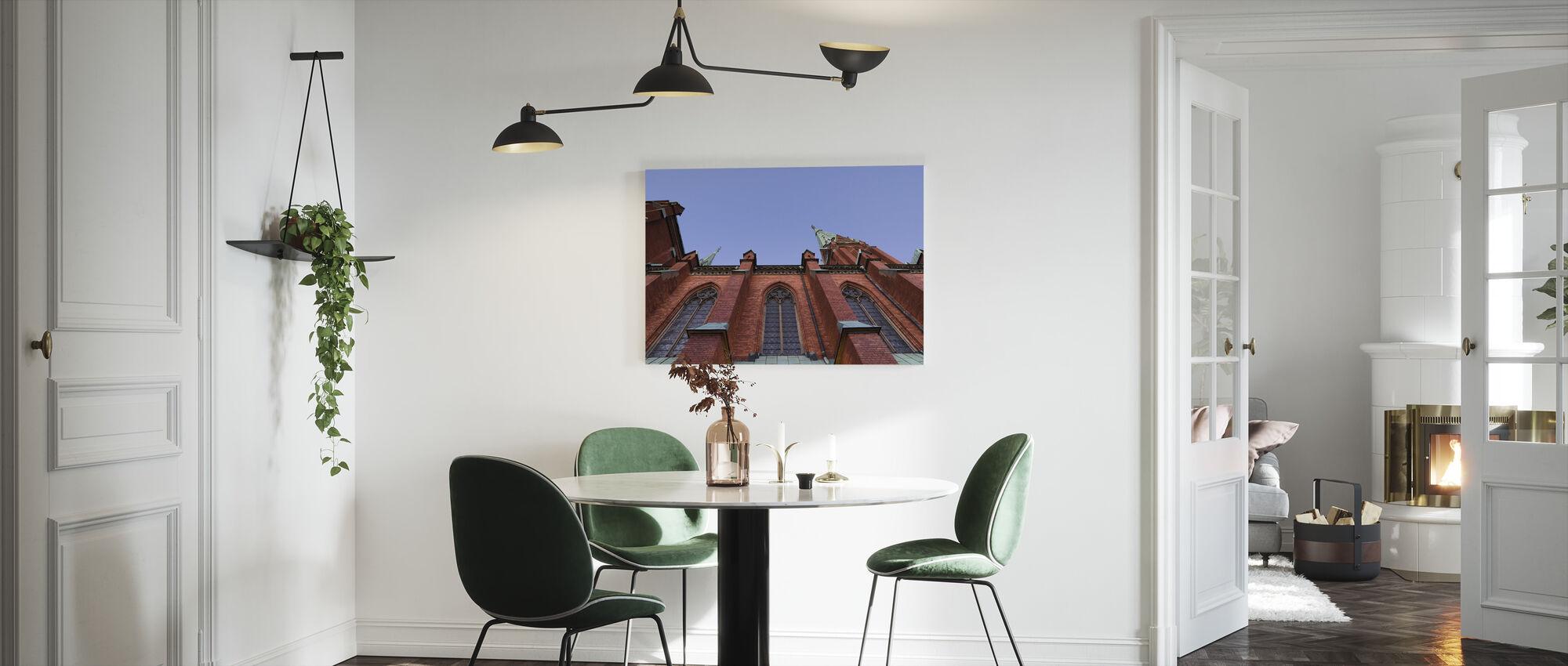 Architectural Details of Johannes Kyrka - Canvas print - Kitchen