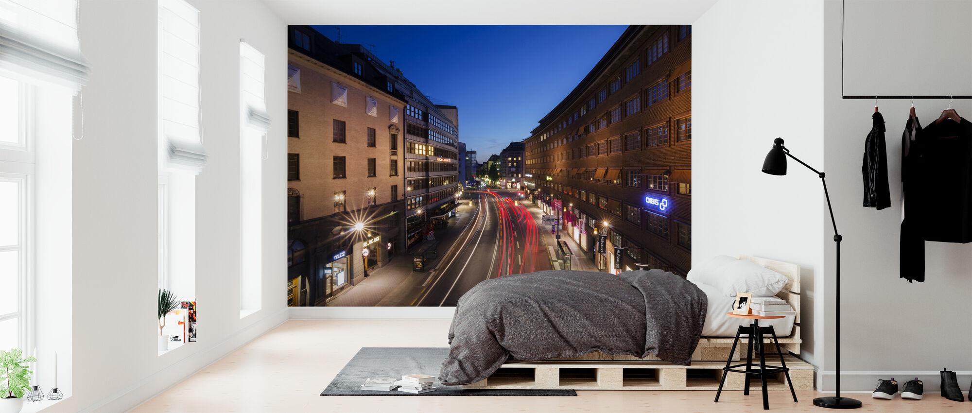 Light Streaks at Kungsgatan - Wallpaper - Bedroom