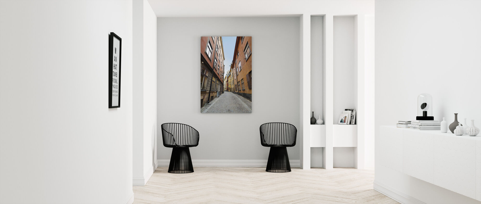 Old Town Street in Stockholm - Canvas print - Hallway