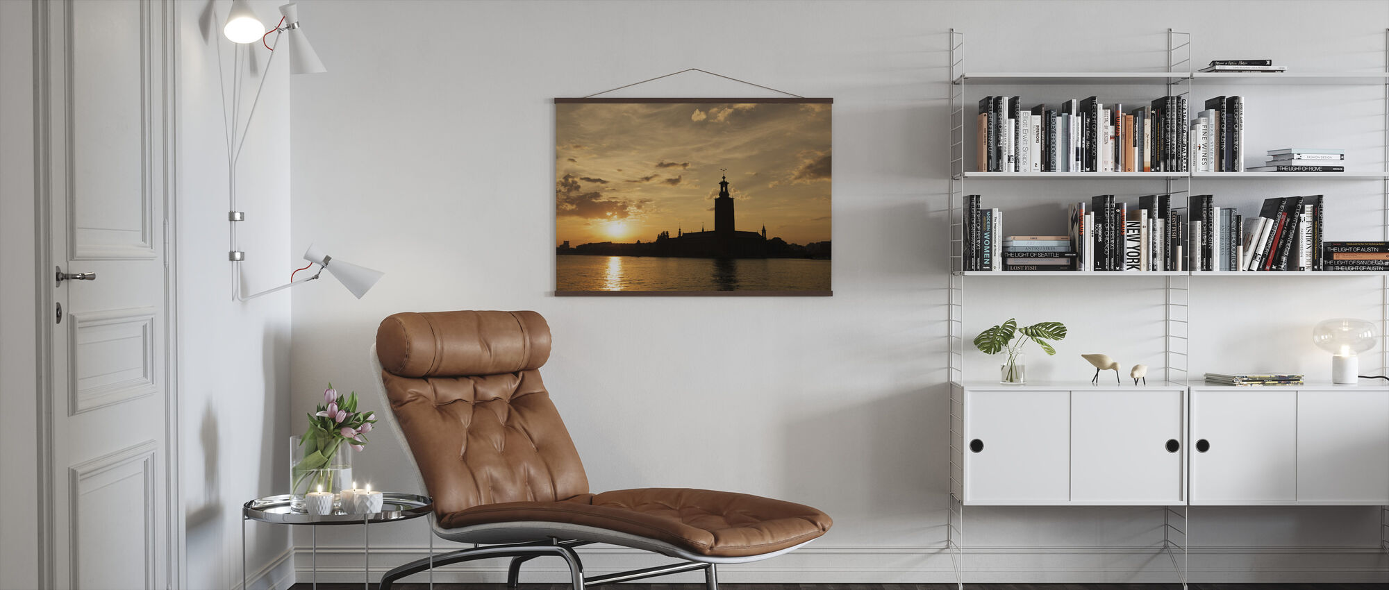 Stockholm City Hall in Silhouette - Poster - Living Room