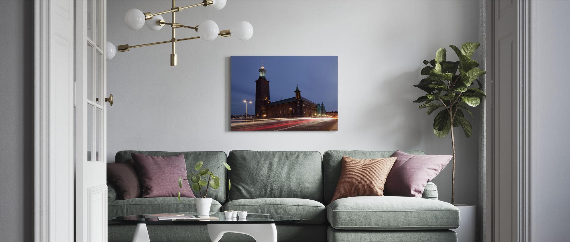 Stockholm City hall Light Streaks - Canvas print - Living Room