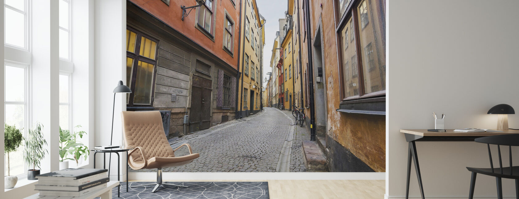 Gata i Gamla Stan Stockholm - Tapet - Vardagsrum