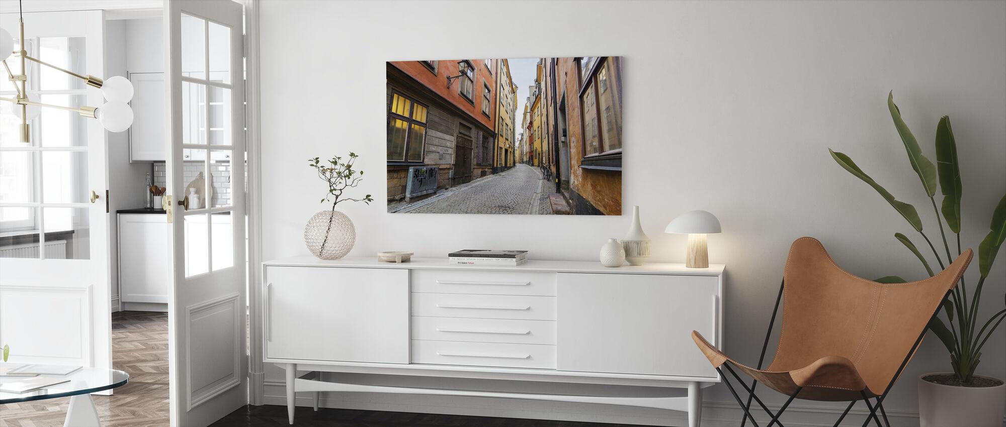 Street in Gamla Stan Stockholm - Canvas print - Living Room