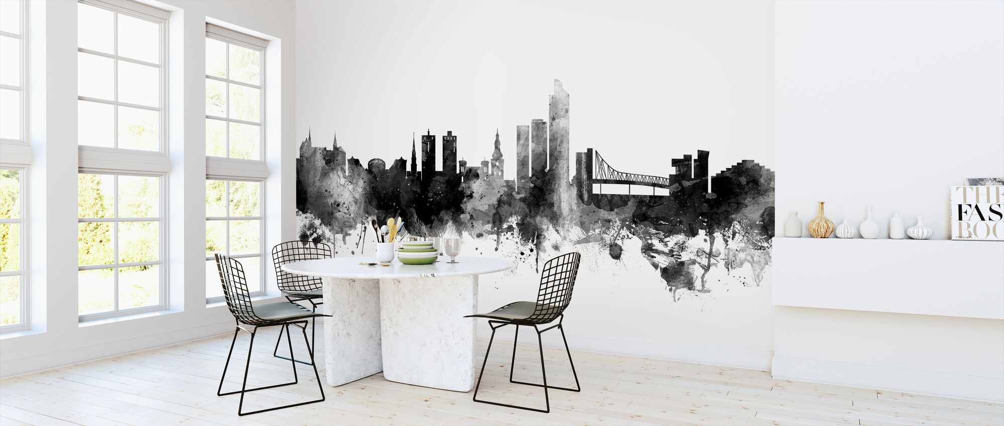 Oslo Skyline Black - Wallpaper - Kitchen