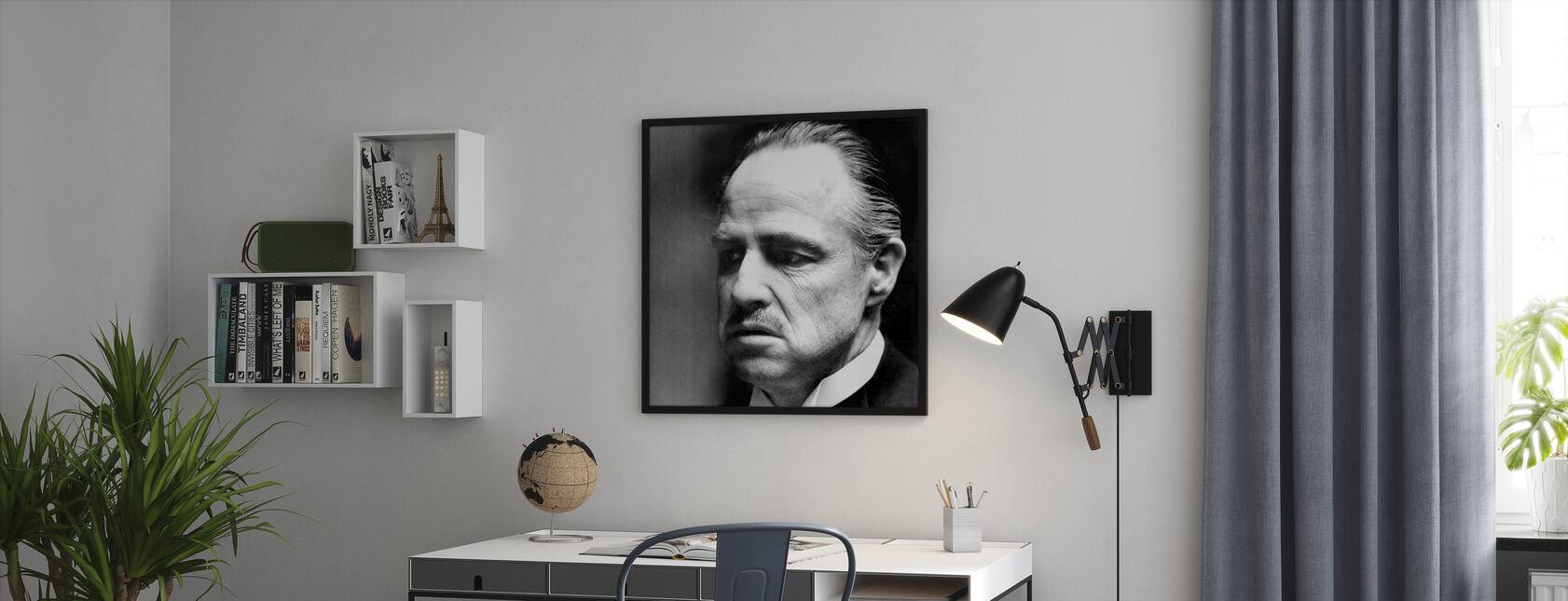 De peetvader - Don Vito Corleone - Ingelijste print - Kantoor