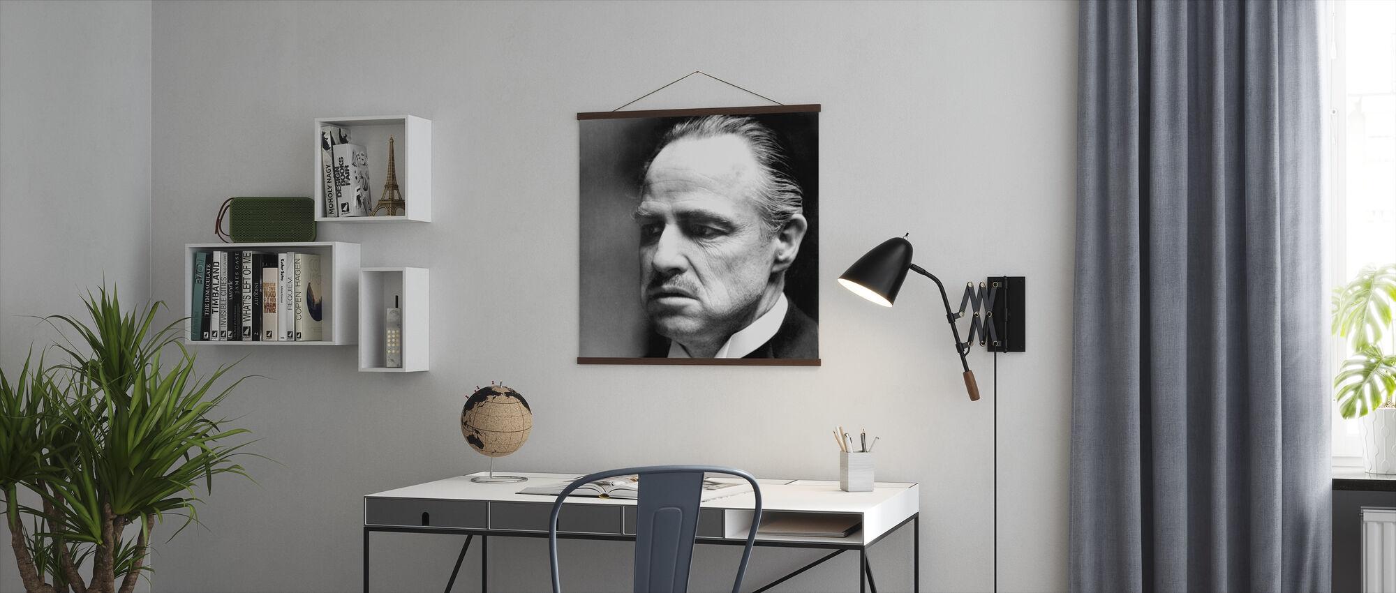 De peetvader - Don Vito Corleone - Poster - Kantoor
