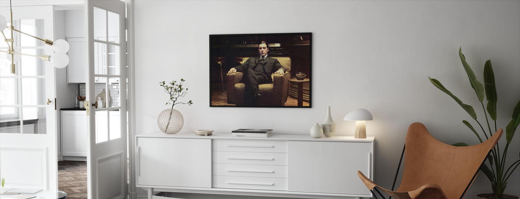 Godfather - lænede sig tilbage Michael Corleone - Indrammet billede - Stue