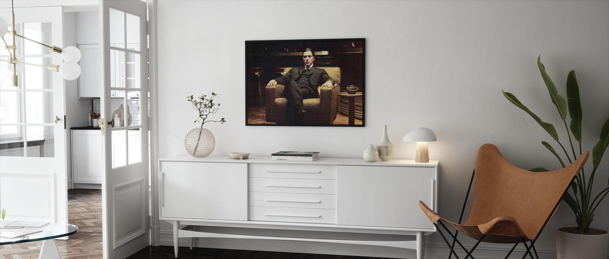The Godfather - Leaned Back Michael Corleone - Framed print - Living Room