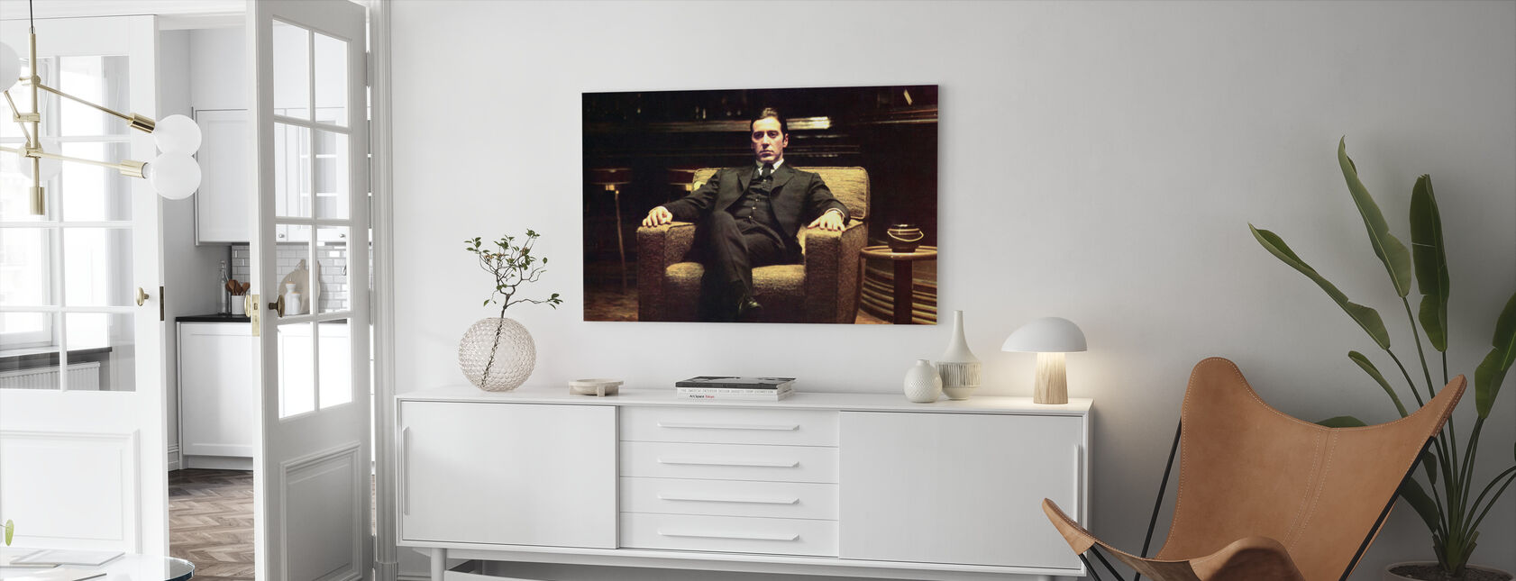 The Godfather - Leaned Back Michael Corleone - Canvas print - Living Room