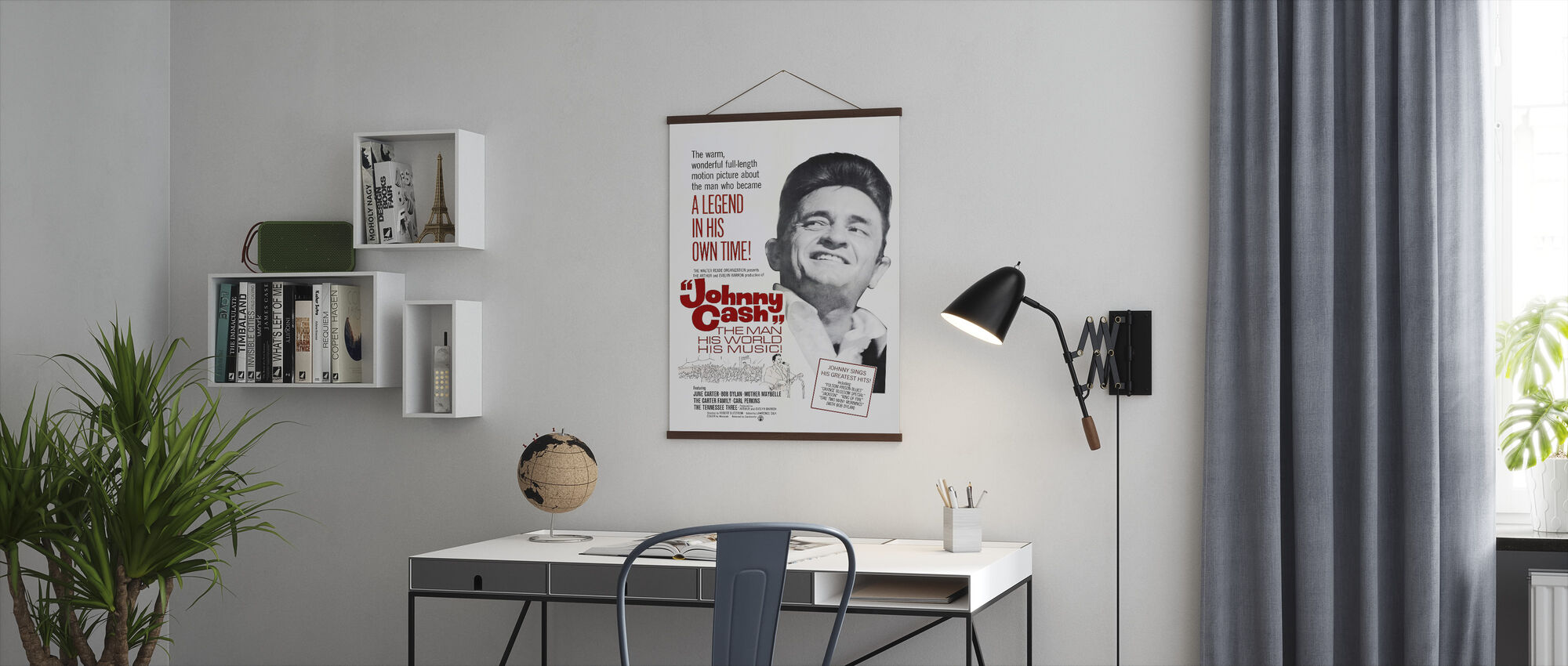 Mannen, Hans Värld, Hans Musik - Affisch art - Poster - Kontor