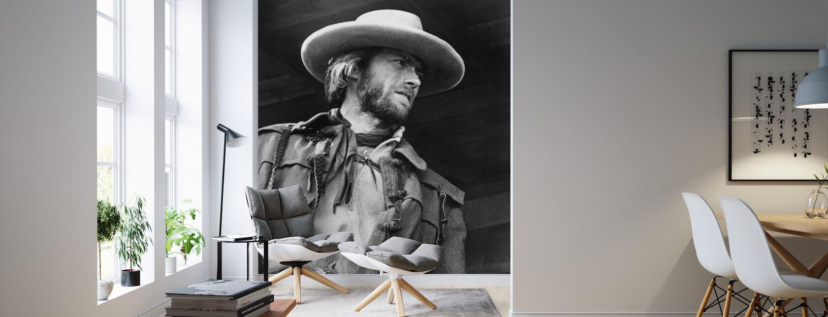 Den fredløse Josey Wales - Grå skala - Tapet - Stue
