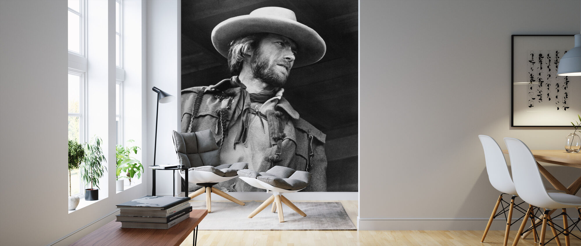 The Outlaw Josey Wales - Graustufen - Tapete - Wohnzimmer
