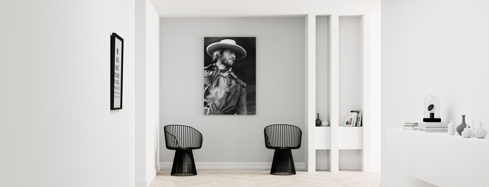 The Outlaw Josey Wales - Grey scale - Canvas print - Hallway