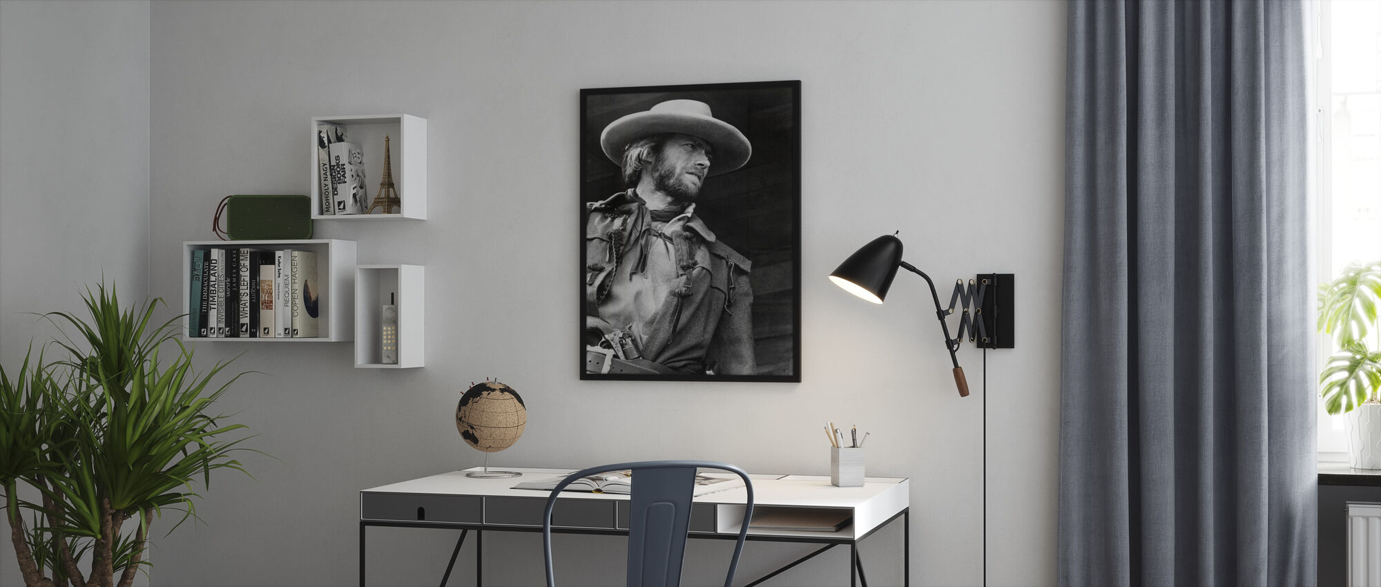 The Outlaw Josey Wales - Grey scale - Framed print - Office