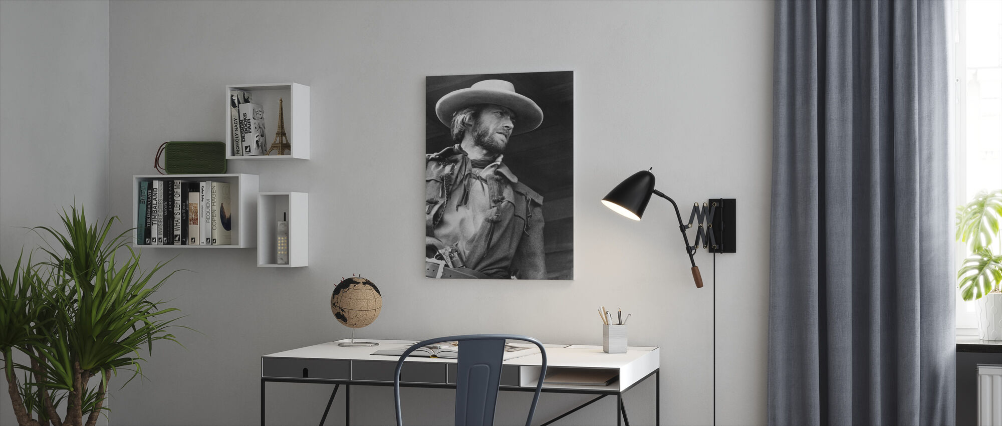 The Outlaw Josey Wales - Grey scale - Canvas print - Office