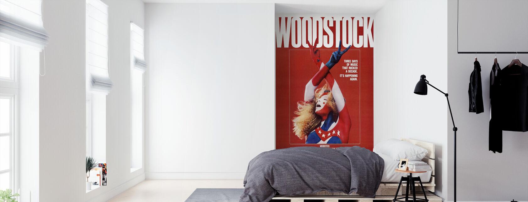 Woodstock affisch konst - Tapet - Sovrum