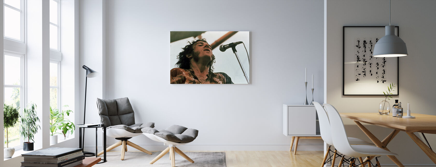 Woodstock Stage 1970 - Canvas print - Living Room