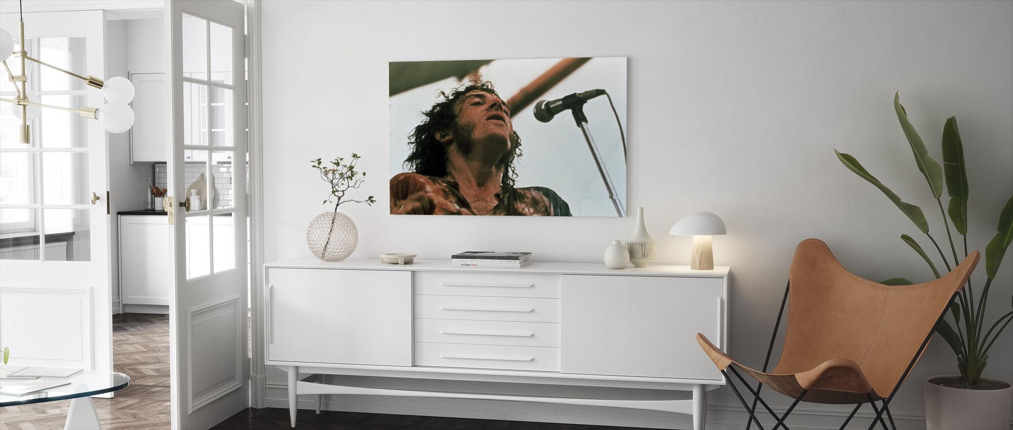 Woodstock Bühne 1970 - Leinwandbild - Wohnzimmer