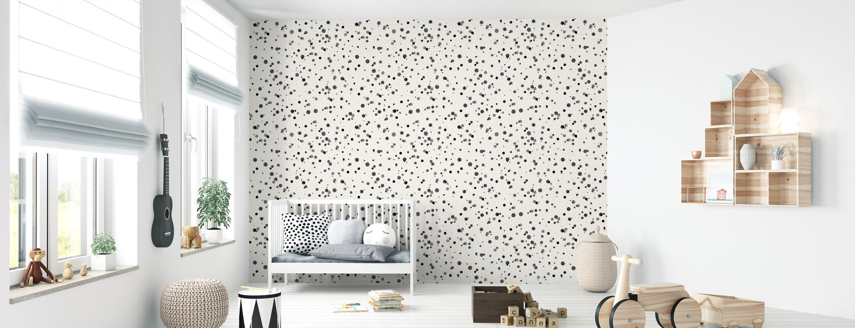 Confetti Blue - Wallpaper - Nursery