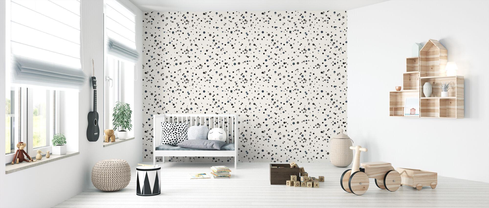 Confetti Blue - Wallpaper - Nursery