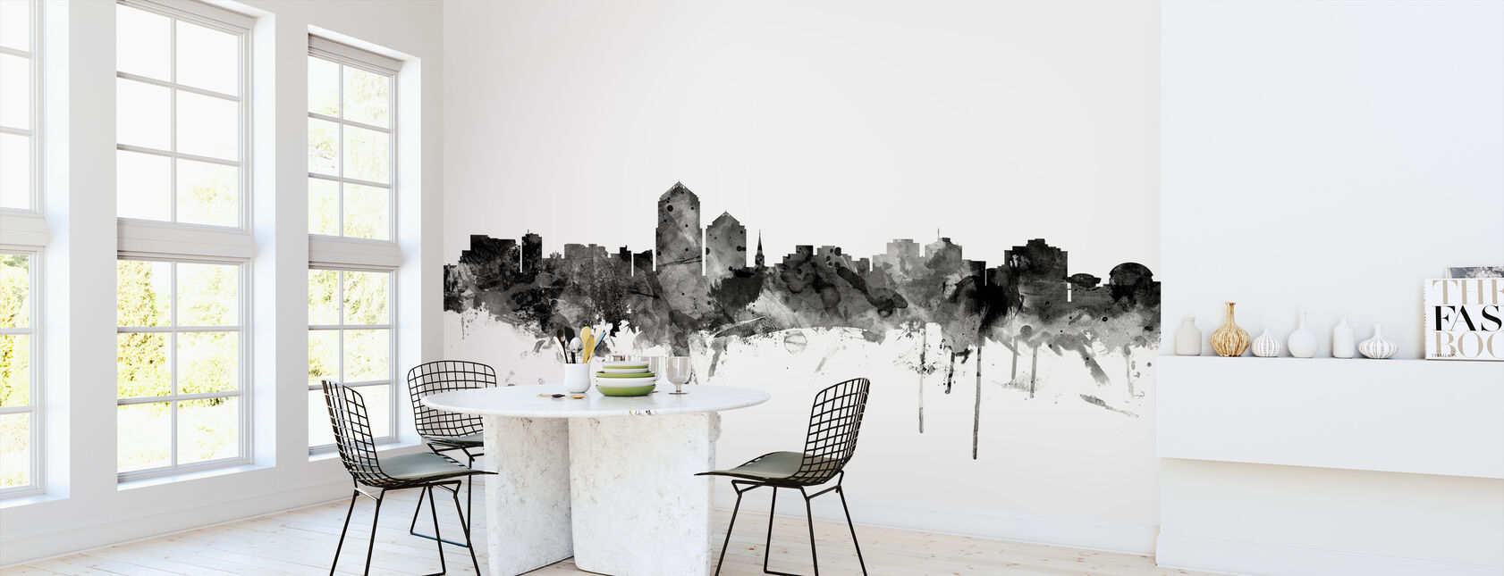 Albuquerque New Mexico Skyline Black - Wallpaper - Kitchen