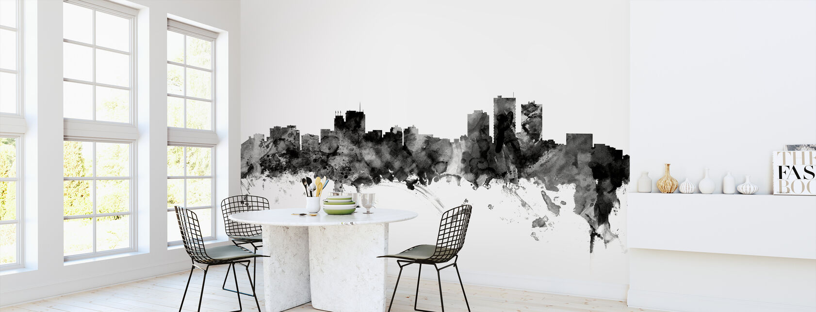 Anchorage Alaska Skyline Black - Wallpaper - Kitchen