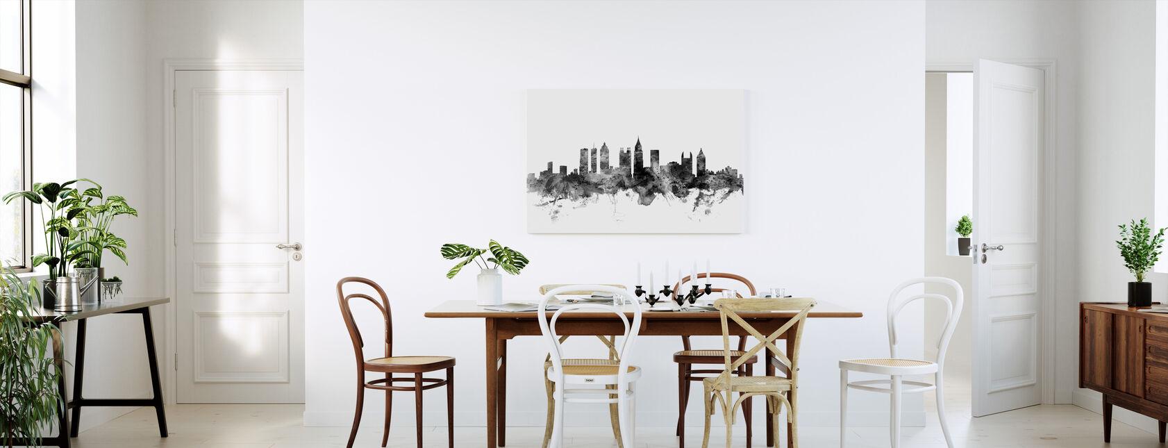 Atlanta Georgia Skyline Sort - Billede på lærred - Køkken