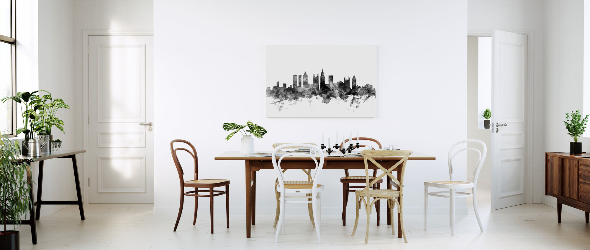 Atlanta Georgia Skyline Black - Canvas print - Kitchen