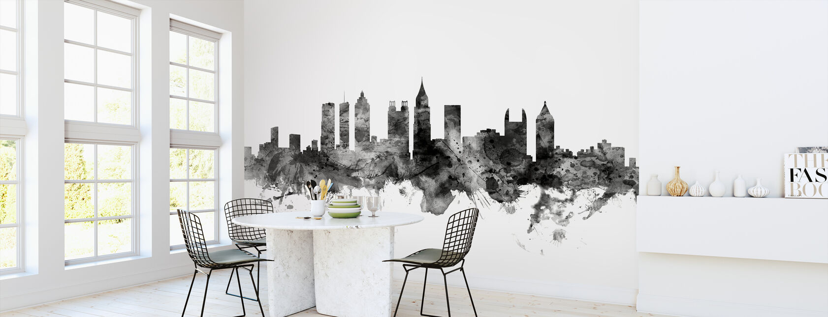 Atlanta Georgia Skyline Black - Wallpaper - Kitchen