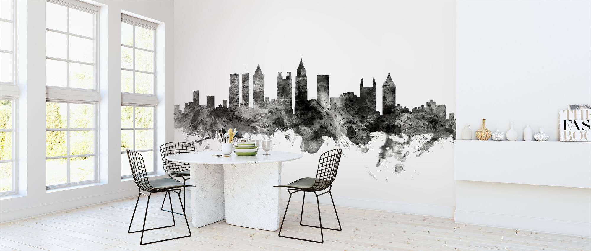 Atlanta Georgia Skyline Black - Wallpaper - Kitchen
