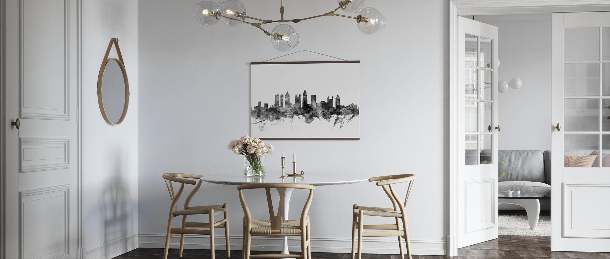 Atlanta Georgia Skyline sort - Plakat - Kjøkken