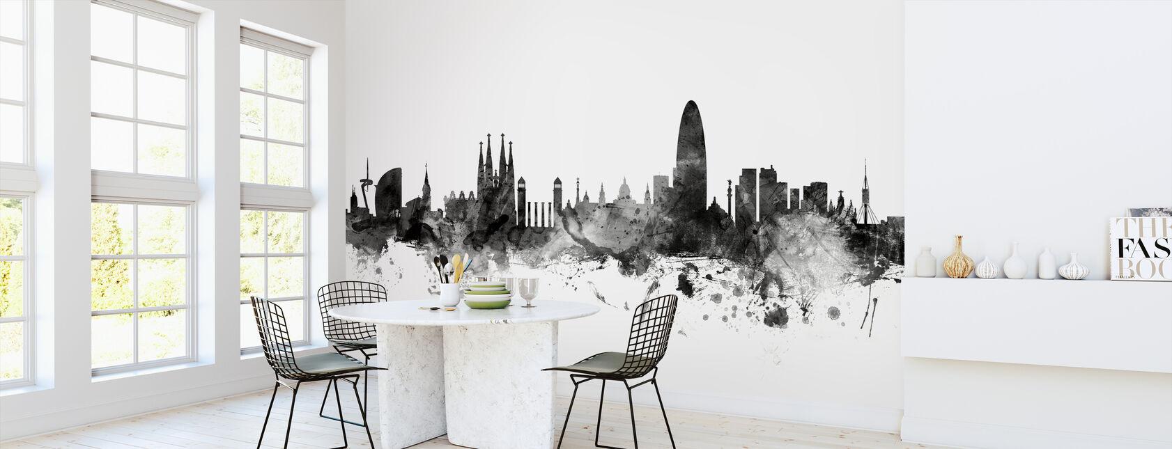 Barcelona Skyline Svart - Tapet - Kök