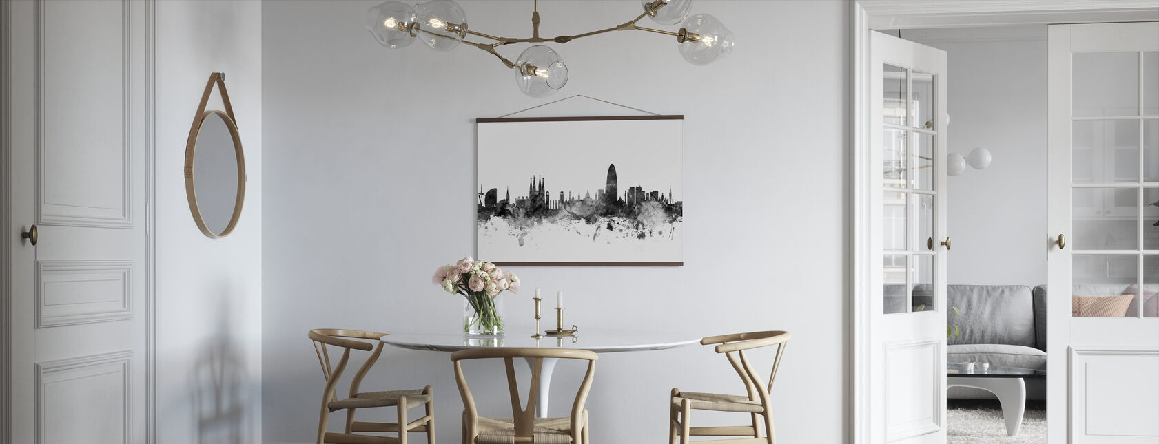 Barcelona Skyline Black - Poster - Kitchen
