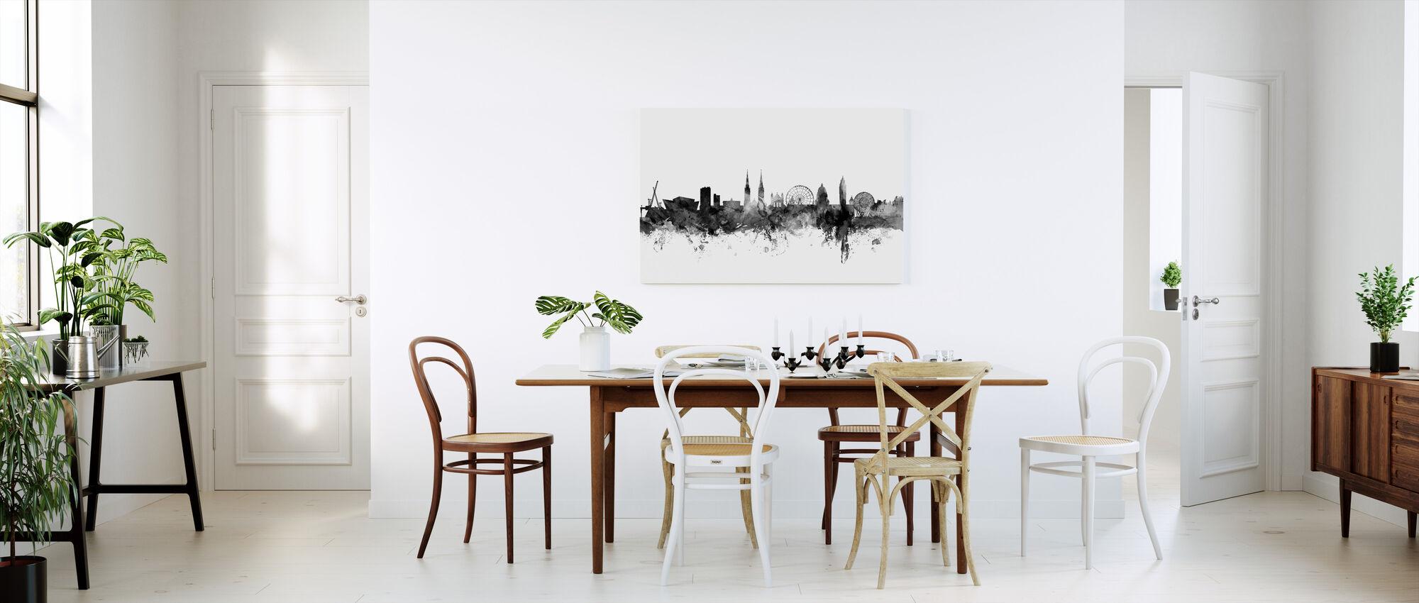 Belfast Skyline Zwart - Canvas print - Keuken