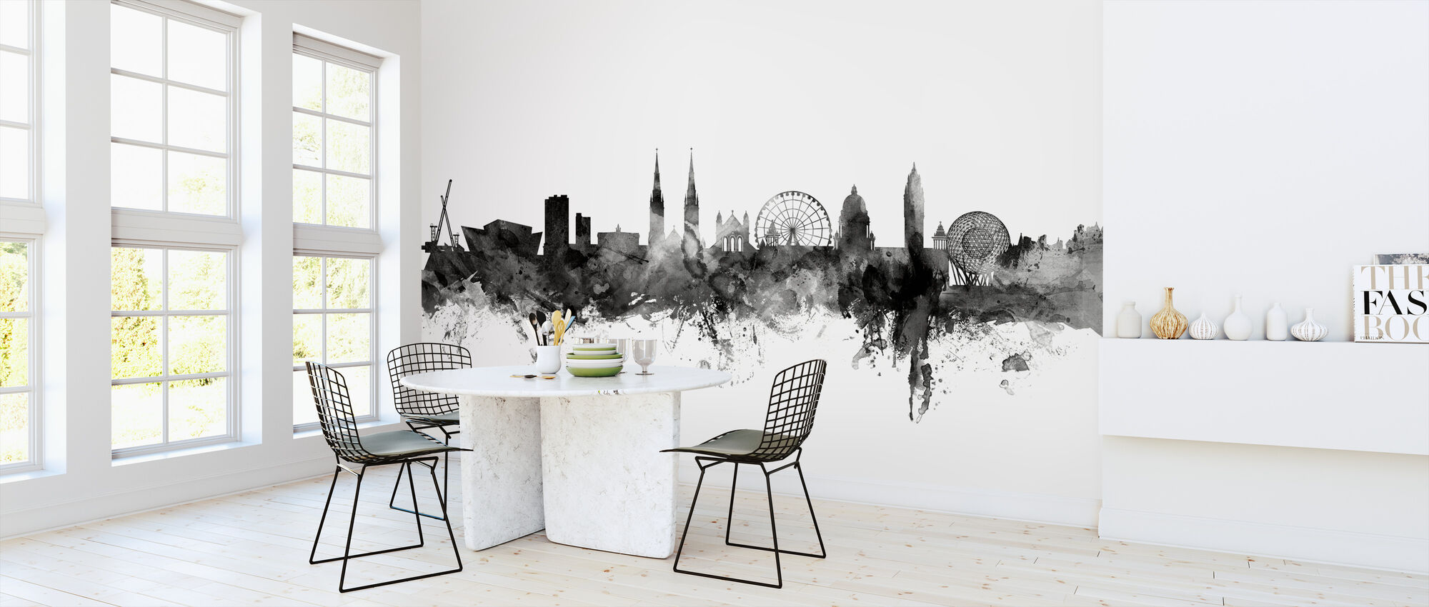 Belfast Skyline Black - Wallpaper - Kitchen