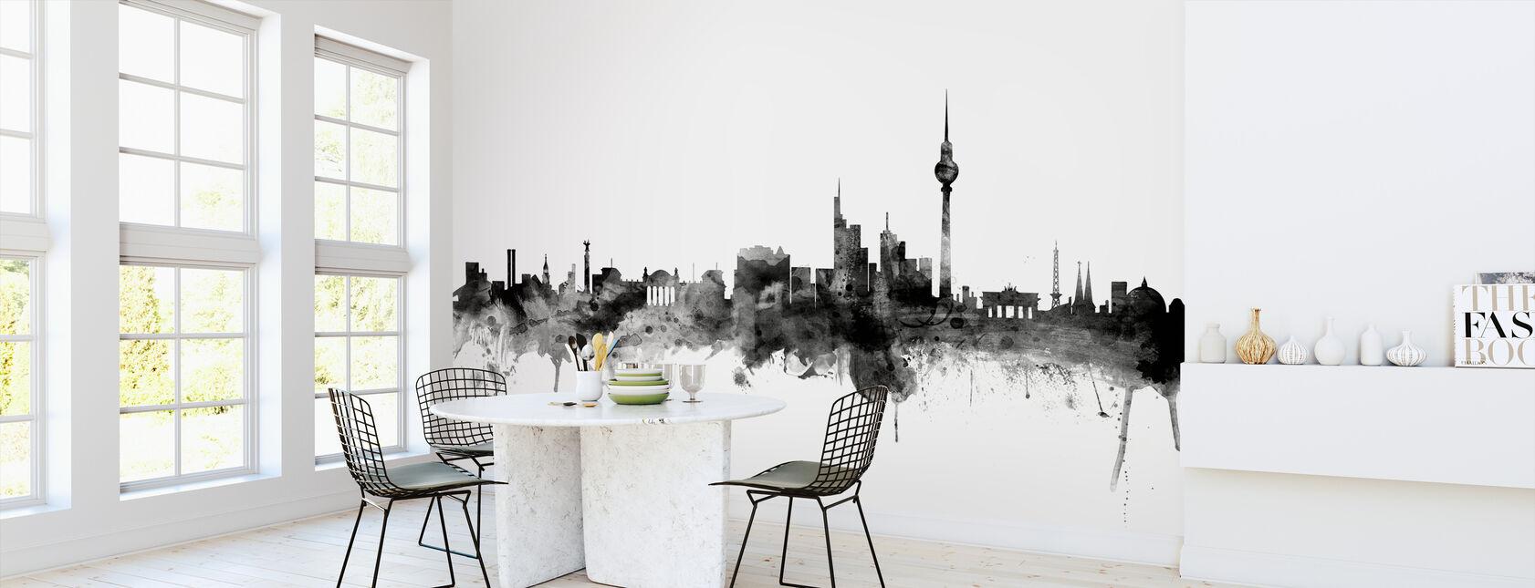 Berlin Skyline Black - Wallpaper - Kitchen