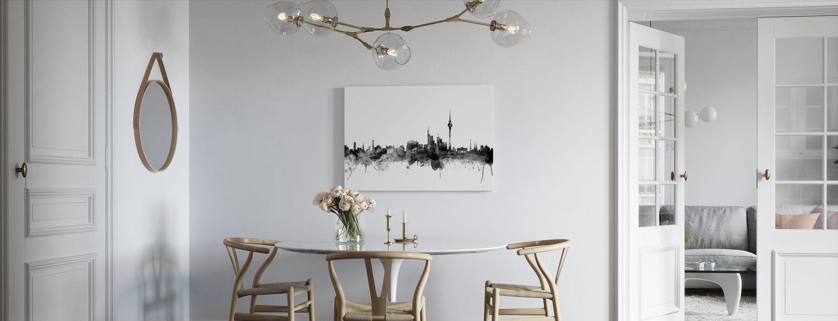 Berlin Skyline Schwarz - Leinwandbild - Küchen